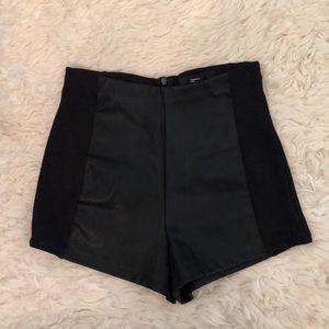 F21 Black High Rise Shorts